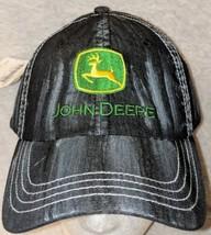 John Deere LP49279 Adjustable Black Stone Wash Denim Leaping Deer Logo image 2