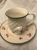 Avon Weaved Easter Cup And Plate - $11.30