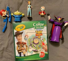 Toy Story Pvc Figures Lot Of 6 & NEW Crayola Color & Stick 4 FREE Cup & Tsum - $11.23