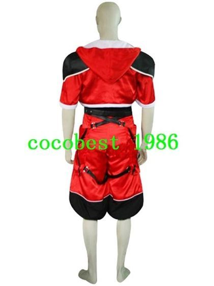 Kingdom Hearts Sora Brave Form Halloween Cosplay Costume coat pants shirt