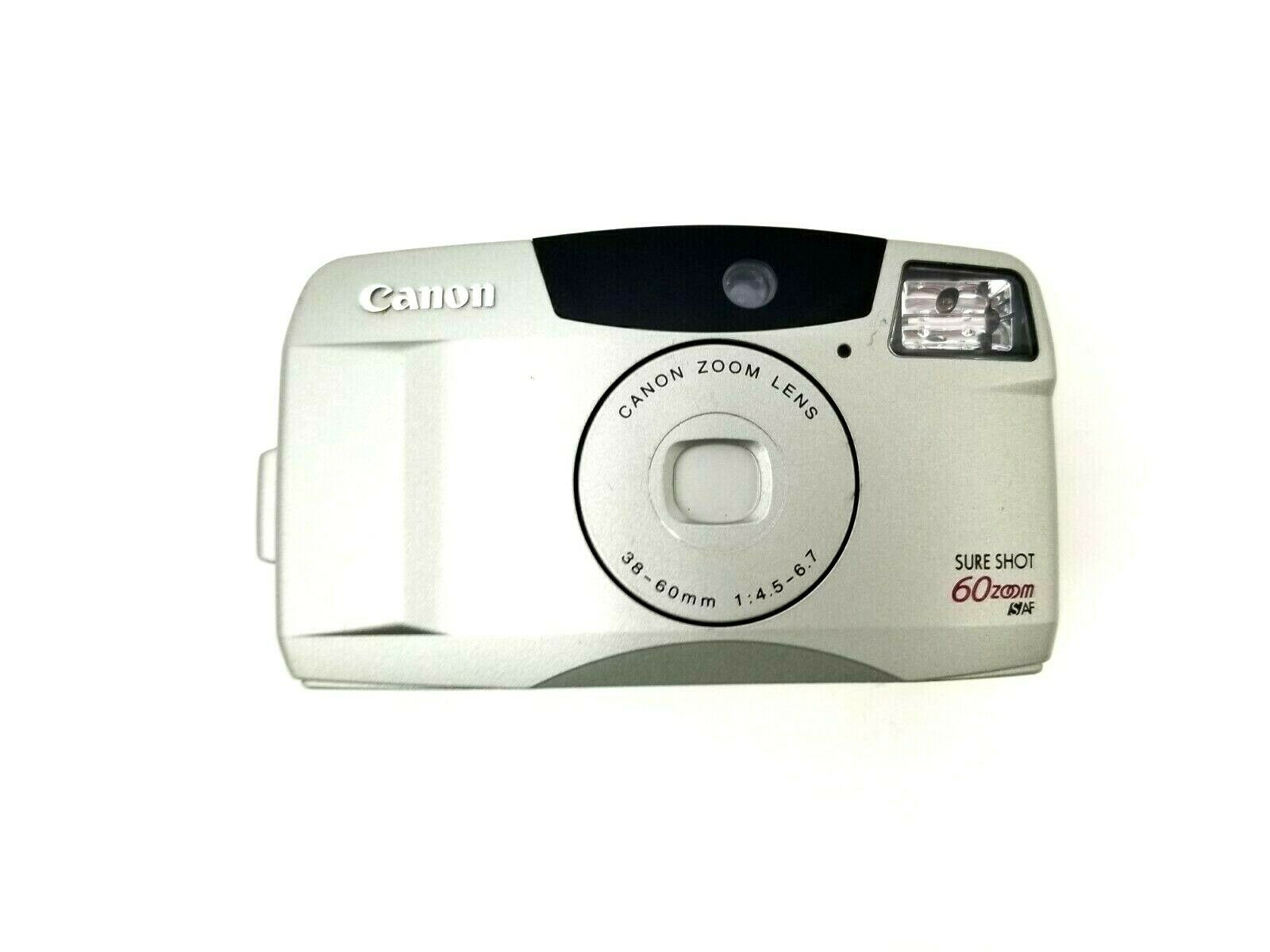 Canon Sure Shot 60 Zoom SAF 35mm Film Camera w/Canon Zoom Lens 38-60mm