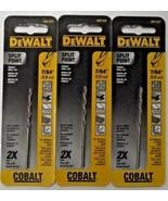 """DEWALT DW1207 7/64"""" Cobalt Split Point Twist Drill Bits 3pcs. - $4.46"""