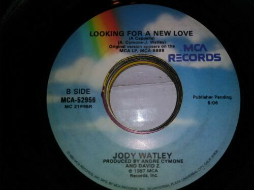 "JODY WATLEY - Looking For A New Love - 7"" Vinyl 45 record"