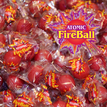 "Atomic Fireballs Cinnamon 3/4"" Jawbreakers Candy Centers 4 LBs - $25.99"