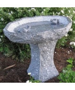 Stone Age Creations Two Frog Granite Bird Bath with Chiseled Exterior an... - $1,564.75