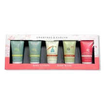 Crabtree & Evelyn Gift Set of 5 Body Lotion And Body Wash Travel 1.6 oz - $32.99