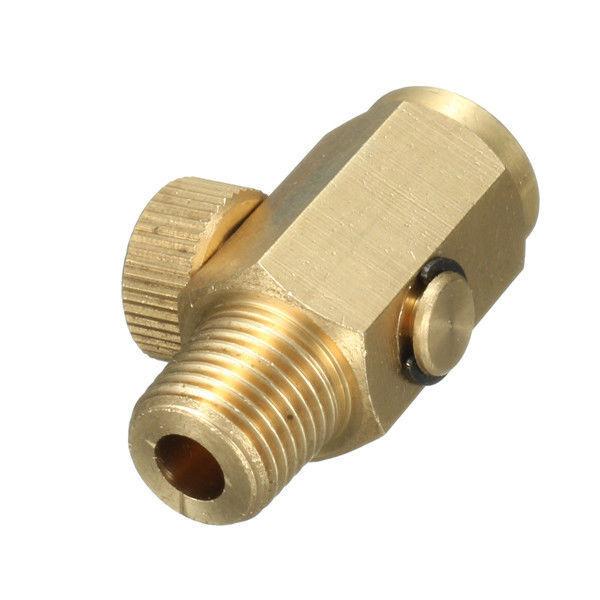 "New 1//4/"" NPT Inline Regulator Solid Brass Compressed Air Pressure Valve Tool"
