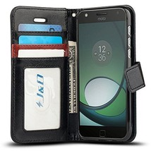 Moto Z Play Droid Case, Protective Shock Resistant Flip Cover Wallet Case - $16.73