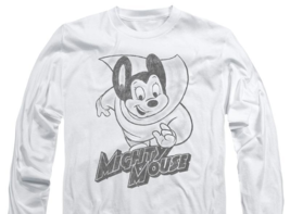 Mighty Mouse superhero Retro Saturday cartoon classics long sleeve tee CBS1136 image 3
