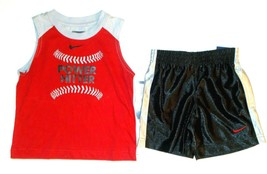 Nike SB Toddler Boy Shorts Muscle Shirt Outfit Power Hitter Size 24 Mont... - $27.70