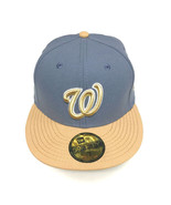 7 Size New Era Washington Nationals Cap Bluestone/Buck 59FIFTY Fitted Hat - $23.99