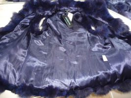 Jocelyn Bicolor Black Navy Roadie Fox Fur Vest New $1.1 image 10