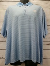Vansport Performance Men's Size XL Short Sleeve Striped Polo Shirt  w/NC Logo - $12.30