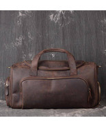 On Sale, Full Grain Leather Gym Bag, Vintage Travel Bag, Duffel Bag - $230.00