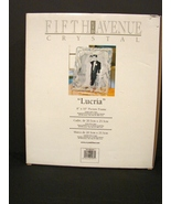 "Fifth Avenue Crystal Ribbons Glass Picture Photo Frame 8""x 10"" LUCRIA 33... - $30.90"