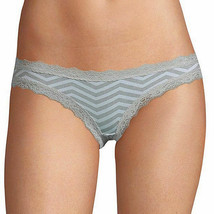 Flirtitude Women's Bikini Panties Size Small Heather Gray Chevron Lace T... - $12.37