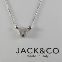 Cadena Tales Anillos de Plata 925 Jack&co con Mariposa con Zirconia JCN0525 - $78.73