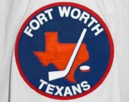Custom Name # Fort Worth Texans Retro Hockey Jersey New White Any Size image 4