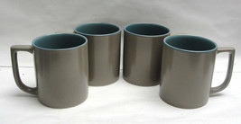 SET OF FOUR (4) MIKASA China - BEACHSIDE Pattern - COFFEE MUGS - $26.95