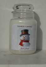Yankee Candle Jack Frost Jar 22 Ounces Fresh Scent Snowman Frosty - $33.80