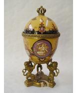 Porcelain Egg shaped box, Style The Tsar's Fabergé Eggs vintage porcelai... - $239.00