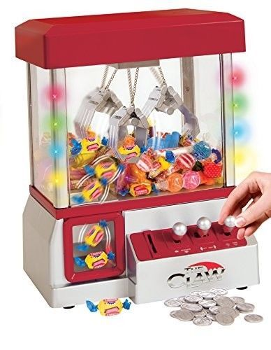 TSF TOYS Electronic Claw Toy Grabber Machine with LED Lights and Toys