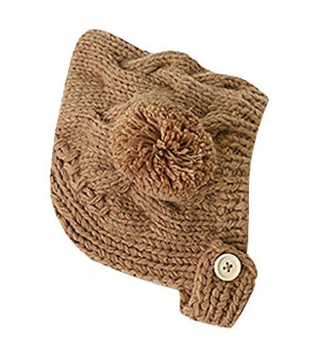 Newborn Baby Warm Hat Cap Baby Hat Brown, 3-18 Months