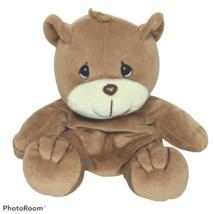 "Precious Moments Tender Tails Brown Bear Plush Stuffed Animal 1997 8.5"" - $15.84"