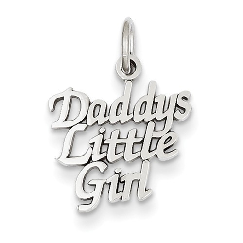 14K Yellow or White Gold Daddy's Little Girl Pendant