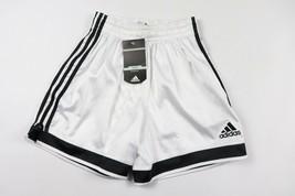 Vintage Neuf Adidas Homme Petit Sort Out Rayé Football Short Noir Blanc - $52.54