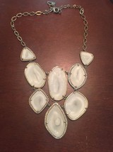 Authentic Stella & Dot Fiona Bib Ivory Necklace... - $26.73