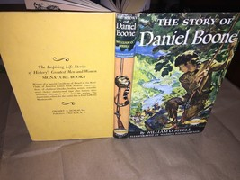 HB, 1953, The Story of Daniel Boone by William O. Steele, Signature Book - $9.89