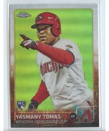YASMANY TOMAS REFRACTOR RC 2015 Topps Chrome #189 ROOKIE Diamondbacks - $4.99
