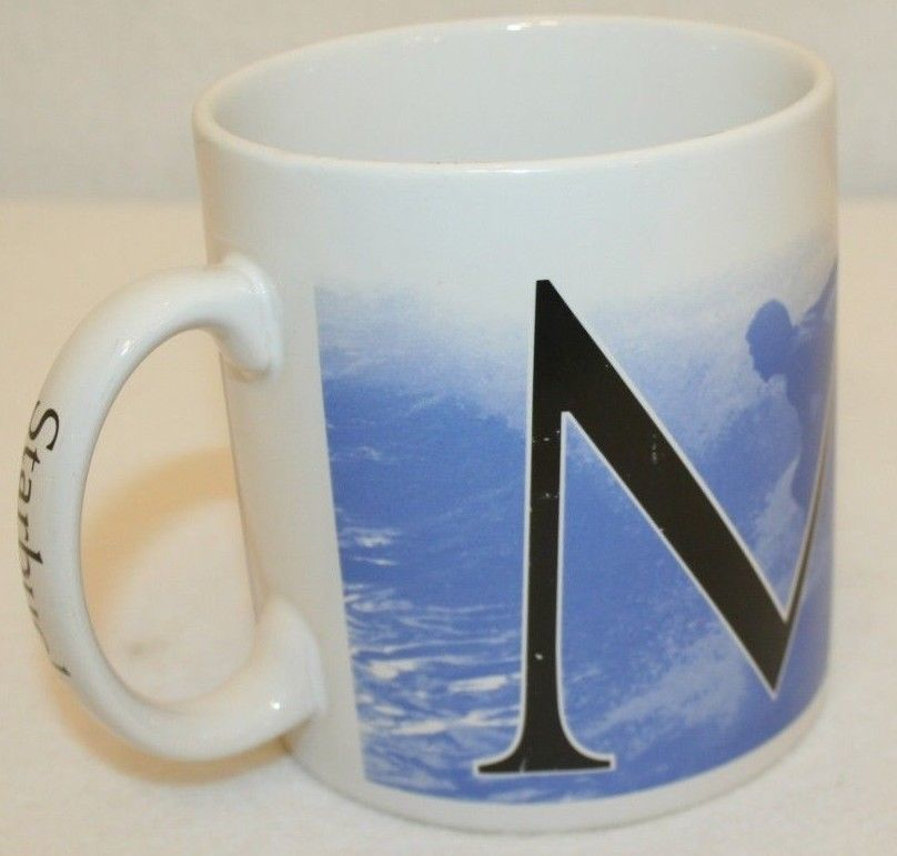 Primary image for Starbucks Maui Hawaii 2007 Collector Series Ocean Surfer Coffee Mug 16 oz