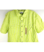 Magellan Outdoor Shirt Button Down Men's Xl Casual Short Sleeve Green Plaid - $16.10