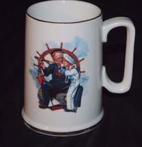 """1987 Norman Rockwell Museum Collection Mug / Small Stein - """"Ship Ahoy"""" - $8.59"""