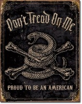 Don't Tread On Me Military Proud American Flag Garage Man Cave Wall Decor Sign - $15.99
