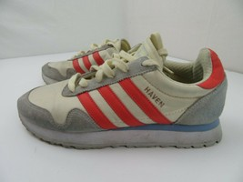 Adidas Haven Sneakers Women's Shoes Size 8.5 White Orange CQ2525 - $29.69