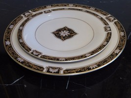 PICKARD CHINA HUNTINGTON DINNER PLATE AND SALAD PLATE - $44.00