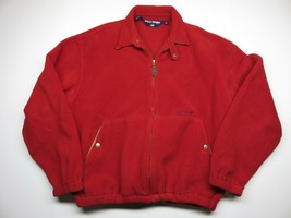 VTG Red Zip Up Polo Sport by Ralph Lauren Jacket Made in USA Size Medium - $59.35