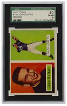 Johnny Unitas 1957 Topps #138 Baltimore Colts Rookie Card SGC EX-NM 6 - $5,939.01