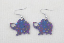 Bonsny cute elephant lovely printing drop earrings acrylic new 2014 desi... - $10.00