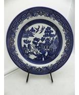 "Churchill of England - Blue Willow - 1 Dinner plate - 10 3/8"" - EUC - $9.41"