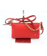 NWT Tory Burch Fleming Red Quilted Leather Crossbody Convertible Bag 405... - $198.00