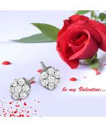 10k whiteGold 1/4-1 CT Lab Grown 7Stone Diamond Earrings for women IGI c... - $73.99