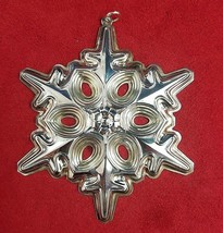 1991 Gorham Sterling Silver Snowflake Christmas Ornament 22nd Annual - $44.10
