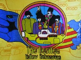 THE BEATLES YELLOW SUBMARINE BEACH TOWEL 30X60 INCHES 100% COTTON OFFICIAL OOP image 3