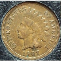 1907 Indian Head Penny Partial Liberty VG #0518 - $2.39