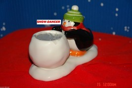 Hallmark 2009  Penguin & Snowball Tealight Candle Holder - $9.99