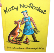 Vintage Children's Book Katy No-Pocket Emmy Payne H.A. Rey Hardcover 1972 - £5.80 GBP